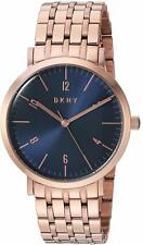 DKNY Minetta NY2611 Blue Dial Rose Gold-tone Ladies Watch