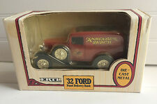 "Ertl '32 Ford Panel ""Anheuser Busch"" Delivery Bank Die-Cast Metal Collectible"