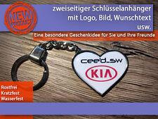 Zweiseitiger Schlüsselanhänger mit Wunschtext, Geschenkidee, Valentinstag, Herz