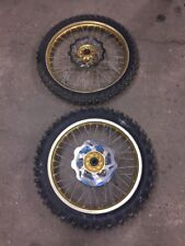 Yamaha Yzf 250 2003 Pair Of Talon Wheels Gold Hubs Sprocket Disks Tyres
