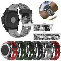 Replacement Sports Silicone Bracelet Strap Watch Band For Garmin Fenix 3/3 HR/5X