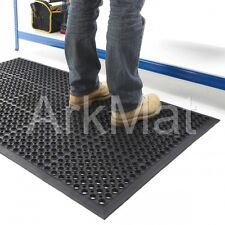 Rubber Anti-Fatigue Non-Slip Safety Mat | Large 5ft x 3ft | Heavy Duty Flooring