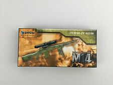 """M14 Designated Marksman Riffle by ZY Toys 1/6th Scale for 12"""" Action Tan Color"""