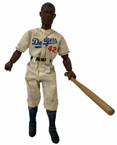 """1997 Starting Lineup Cooperstown Collection Jackie Robinson 12"""" Poseable Figure!"""