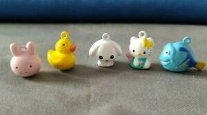 Cute charms Bell Hello Kitty Cinnamoroll Rabbit Duck Fish Craft DIY accessories