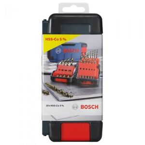 BOSCH 1-10MM HSS-COBALT JOBBER DRILL BIT SET - 18 PIECE