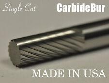 "BRAND NEW USA CARBIDE BURR SA-1 SINGLE CUT 1/4"" CYLINDRICAL DEBURRING TOOL BIT"