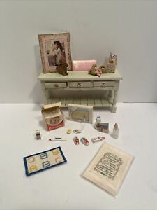 Vintage Baby Girl Nursery Items Many Handcrafted Dollhouse Miniatures 1:12