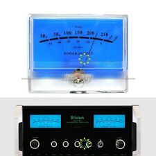 VU Meter DB Level Header Audio Power Amplifier Indicator Meter DB Table Blue