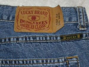 """Women's Lucky Brand Holly Jeans Dungarees 32 (measures 37"""") 32"""" inseam Lucky You"""