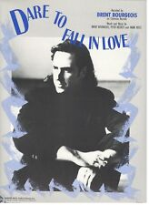 """BRENT BOURGEOIS """"DARE TO FALL IN LOVE"""" SHEET MUSIC-PIANO/VOCAL/GUITAR/CHORDS-NEW"""