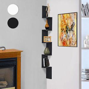 HOMCOM Moderna Libreria da Parete con Mensole in Legno MDF, 12 x 12 x 120cm