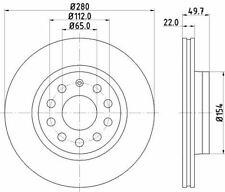 MINTEX MDC1639C BRAKE DISC Front
