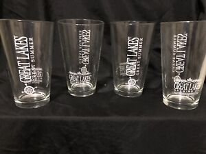 4 Great Lakes Brewing Cleveland Great Summer Beer Pint Glass 16oz W