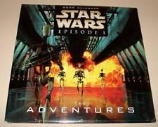 STAR WARS Episode 1 - The ADVENTURES   Official CALENDAR 2000  Sealed /Unused