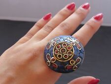 Indian Big Chunky Ring Traditional Tribal Ethnic Authentic. Adjustable Statement