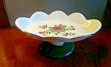 Waverly Garden Room Porcelain Floral Manor Scalloped Pedestal Soap Dish Pink