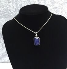 Sterling Silver Tanzanite Crystal Pendant  925 Silver Jewellery