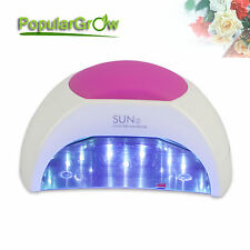 PopularGrow 48W LED Nail Lamp Cure All Led UV Gel Polish with 90s Painless Mode