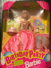 Birthday Party Barbie Doll 1998 NRFB -can blow up balloons!