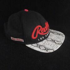 Young & Reckless LA Mens Black Red Snake OSFM Adjustable Snap Back Cap Hat