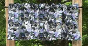 Gray Wolf Eagle Moon Nature Wildlife Woodland Trees Wolves Handcrafted Valance