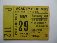 ROLLING STONES__1965__Original CONCERT TICKET STUB__Academy of Music__NYC