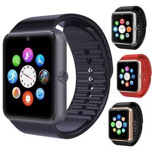 Bluetooth Smart Watch Touch Screen Wrist Watch with Camera/SIM Card,Waterproof S
