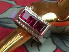 CAREN PFLEGER !!  Designer Ring    Rhodolithe und Diamanten  - Weissgold -