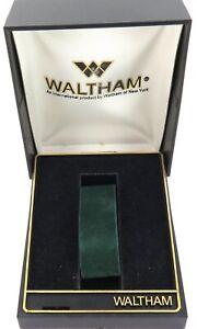 .VINTAGE WALTHAM PLASTIC HARD SHELL MENS WATCH DISPLAY BOX