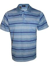 Men's Striped T-shirts Loose Fit Pique Polo Polycotton 1906 Casual Tops M to 5xl Blue 4xl