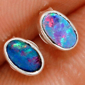 Australian Opal 925 Sterling Silver Earring - Stud Jewelry BE20570