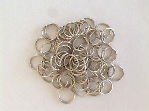 Steel Split Steel Key Rings Bulk 20mm Silver Stainless Steel - pack of 100