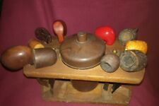 Vintage Antique Pipe Stand With Pipes And Tobacco Jar Smoking Accessories