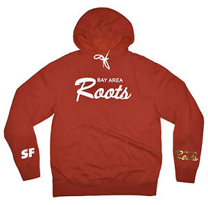 San Francisco 49ers Bay Area Roots Pullover Red White Gold Hoodie Brand New (L)