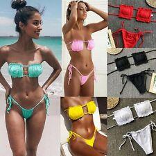 Women Mermaid Bikini Set Ruffle Frill Push Up SwimSuit Beach Pool Party Swimwear
