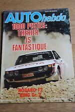 AUTO HEBDO n°122; 1000 Pistes; Therier/ Noagro F2/ Ring GR2/ Toyota Starlett
