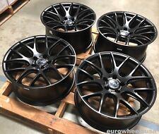 "4 Pcs 18"" Miro 111 Black Wheels For BMW E60 E61 525i 530i 545i 550i 2004-2010"