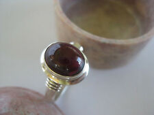 ~ Sterling, Nepal red gemstone Garnet Silver Ring Size 6.5