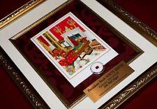 GEORGE W BUSH WHITE HOUSE Christmas Card, Frame, Red Room JFK artifact piece COA