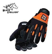 2 Pair Black Stallion Large 98Sb Tool Handz Impact Resistant Mechanic Gloves