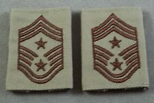 US Air Force Command Chief Master Sgt E-9 Reversible (Tan / OD) Gortex Loop Rank