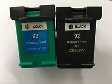 2 Ink Cartridge HP 92 93 HP Photosmart 7830 C3100 C3140 C3180 PSC 1500 Printer