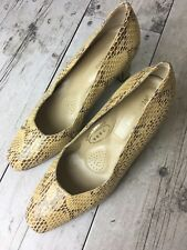 Merianna Womens Size 40 Snake Skin Pattern Shoes Made In Italy US 9 Tan Yellow
