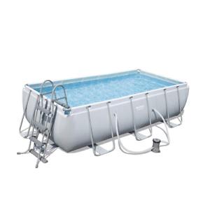 Bestway 56441 pool 404x201x100h cm with ladder frame and 6478 lt rectangular fil