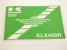 Manuel du propriétaire utilisateur moto Kawasaki 450 KLX R KLX450A Occasion