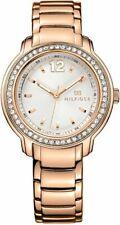 NIB Tommy Hilfiger 1781468 Silver Dial Rose Gold-tone Ladies Watch