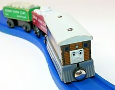 Genuine Thomas Friends Wooden Train Railroad - Toby with Clay Cars