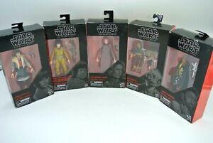 Lot (5) Star Wars Black Series Figures 49 55 65 66 80 / Package Wear