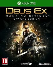 Deus Ex Mankind Divided Day One Edition Xbox One Brand New Factory Sealed
